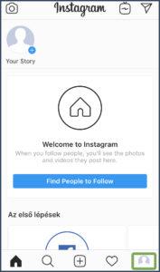 Instagram fiók létrehozása